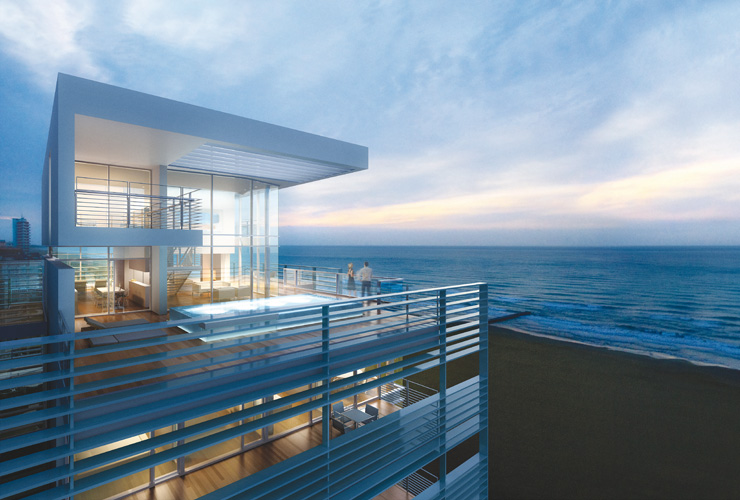 Glass Beachfront Home Plans