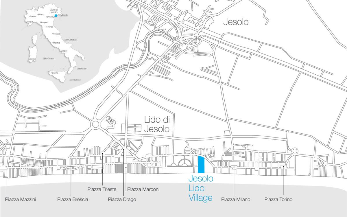 Cartina Jesolo Piazze.Lido Di Jesolo E Una Localita Di Mare Della Laguna Veneta