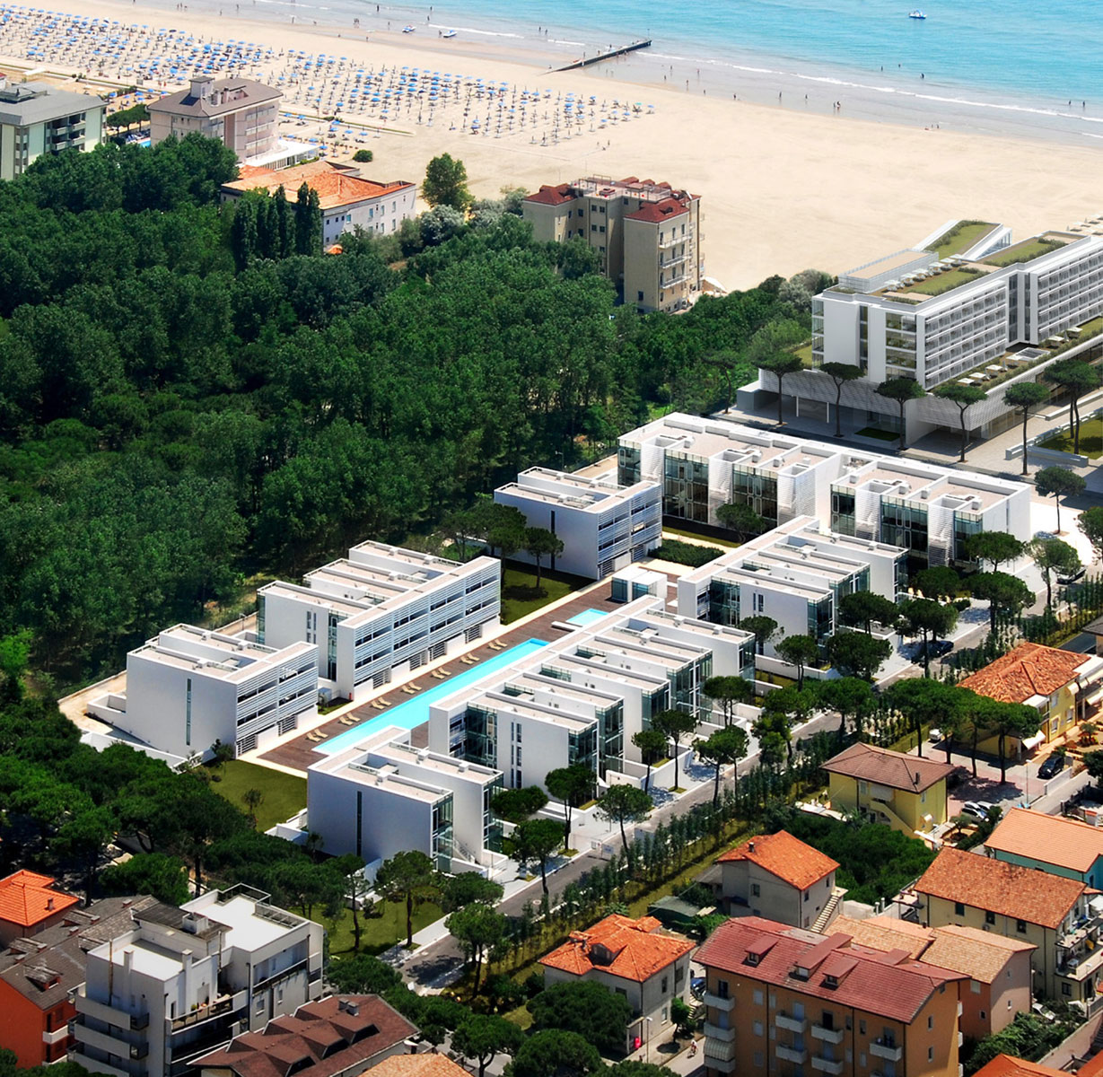 Jesolo Immobiliare By Richard Meier Present The Pool Houses In Jlv